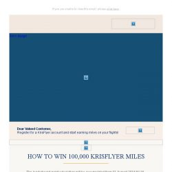 [Singapore Airlines] Last Chance to win 100,000 KrisFlyer miles!