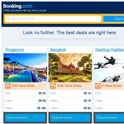 [Booking.com] Last-minute deals from S$ 30 in and around Singapore