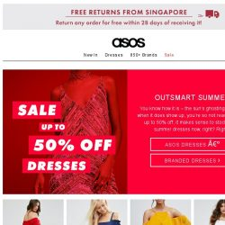 [ASOS] Up to 50% off dresses – so on it