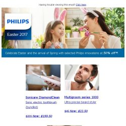 [PHILIPS] Celebrate Easter! Enjoy 50% off selected items!
