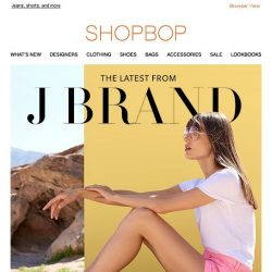 [Shopbop] Pink, white & blue denim from J Brand