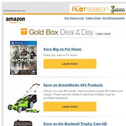 [Amazon] Save Big on For Honor