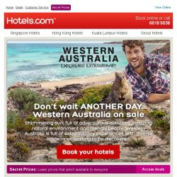 [Hotels.com] Western Australia on sale