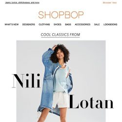 [Shopbop] Finally! Denim from Nili Lotan