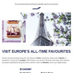 [Finnair] Fly to Europe's all-time favourites from 1,150 SGD