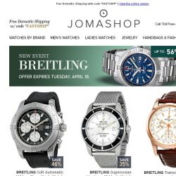 [Jomashop] Breitling • Citizen • A|X • Tory Burch • Kate Spade • Victorinox Swiss Army