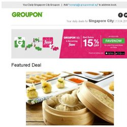 [Groupon] Did you know? Groupon SG is becoming Fave~ Celebrate with 15% off! Cash Voucher at Lijiang Restaurant / 60-Min Full Body Massage at Ancient Oriental Beauty