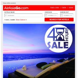 [AirAsiaGo] ⏰ Hurry, SALE ends midnight tonight! ⏰