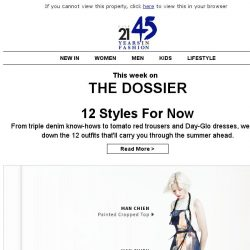 [Triumph] The Dossier: The Styles to Know Now