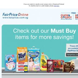 [Fairprice] Check out our Must Buy items for more savings!
