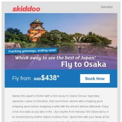 [Skiddoo] 🐇 Hopping Mad Easter Specials with our cheap flights! 🐇 | Fly to Osaka fr. $438* | Fly to Kuala Lumpur fr. $76*