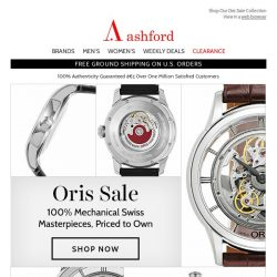 [Ashford] Oris Watches On Sale