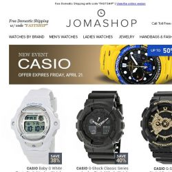 [Jomashop] JUST IN: Movado • Tudor • Oakley • Dior • Casio