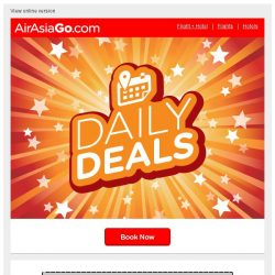 [AirAsiaGo] ✋ Valued member, your deadline is midnight! D E A L S just for you ✋