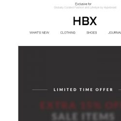 [HBX] Here's your Chance: Extra 15% Off Sale Items