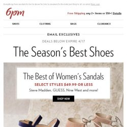 [6pm] The season's best shoes (on sale)!