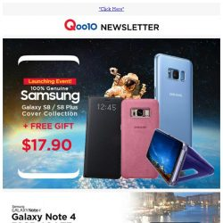 [Qoo10] FREE GIFT - Samsung Galaxy S8 | S8+ Cover Collection