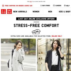 [UNIQLO Singapore] All you need is a stretchy & comfy bottom