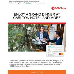 [OCBC]  OCBC Business Debit Card  – Treat yourself this April, with up to 25% off!
