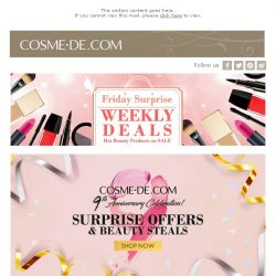 [COSME-DE.com] COSME-DE 9th Anniversary Special Offer! Weekly Deals + The hottest new items