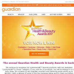 [Guardian] ⭐ Health and Beauty Awards 2017 Voting Starts Now! ⭐