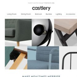 [Castlery] Dining tables our customers love - on sale!
