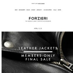 [Forzieri] Last Chance: Leather Jackets up to 70% Off - EXCLUSIVE