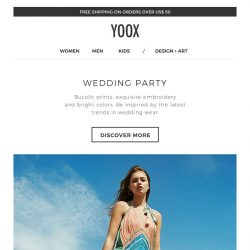 [Yoox] Wedding party: three ways to be the best dressed guest