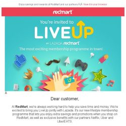 [Redmart] Introducing LiveUp: The most exciting membership programme in town!