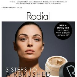 [RODIAL] ③ Top Tips For An Airbrushed Complexion | Free Mini Snake Booster Oil