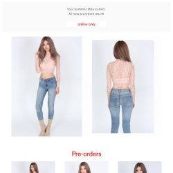 [MDS] Pre-orders Now Open! Featuring Contemporary Sheer Lace Top in Blush