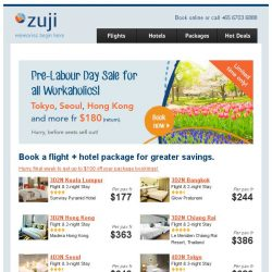 [Zuji] How about 4D3N Seoul & Tokyo packages fr $649?