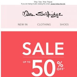 [Miss Selfridge] Up to 50% off SALE is here, people!