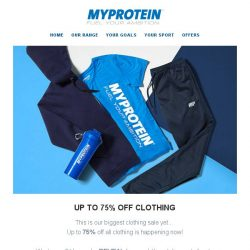 [MyProtein] Our biggest ever clothing sale has just landed!