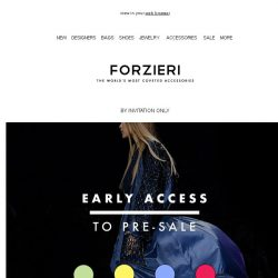 [Forzieri] Pre-Sale early-access | Ends in 5 days
