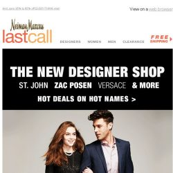 [Last Call] The Designer Shop | Can't-miss deals on St. John, Zac Posen, Versace, & more
