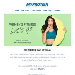 [MyProtein] Introducting our Pre-Mother's Day collaboration with LookFantastic...