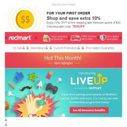 [Redmart] Hot This Month at RedMart!
