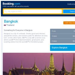 [Booking.com] Deals in Bangkok from S$ 8