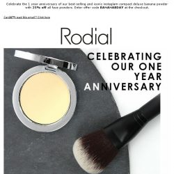 [RODIAL] Go Bananas! 25% Off All Face Powders | Limited Time Only