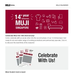 [Muji] Shop MUJI 14th Anniversary with New Added Promotion!