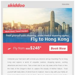 [Skiddoo] ✈ Celebrate Labor Day with travel! ✈ | Book cheap flights to Hong Kong fr. $248* | Fly to Bali fr. $116*