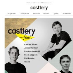 [Castlery] For the very first time…Castlery feat. International Designers!