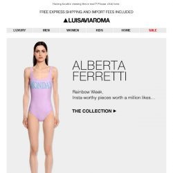 [LUISAVIAROMA] Alberta Ferretti for every day of the week…