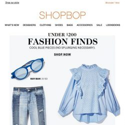[Shopbop] Under $200: cool blue pieces