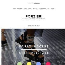 [Forzieri] Private Shoe Sale | Up to 50% your Dream Shoes