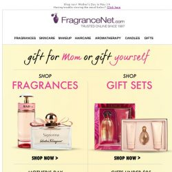 [FragranceNet] Lowest prices EVER are here! Gift mom. Gift yourself.