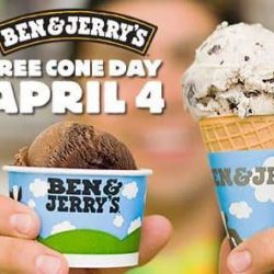 Ben & Jerry's: FREE Cone Day on 4 April 2017!