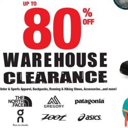 Outdoor Venture: Warehouse Clearance Sale Up to 80% OFF Asics, The North Face, Patagonia, Zoot & more