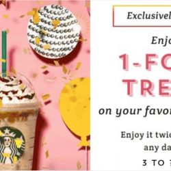 Starbucks: Your Favourite 1-for-1 Treat is Back This Week!